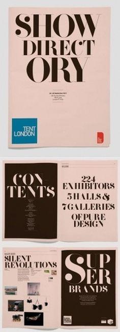 Tent London Directory | AisleOne #serif #print #display #directory #mono #type #brochure #typography