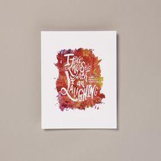 I Love Myself When I Am Laughing Print #illustration