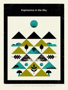 Explosions In The Sky / Wye Oak - Doublenaut #gig #poster