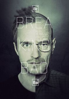 breaking bad #typography #poster #bad #breaking