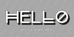 Avec un H V6 #modular #white #black #website #minimal #shadow #hello #futura #typo #grey
