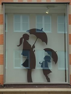 Window Display by . Could print this out and use as a template for cards or scrap booking. #silhouette