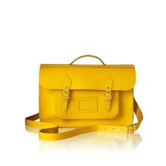 Yellow Things For Maria - (via Product Detail Page) #bag #cambridge #yellow #satchel