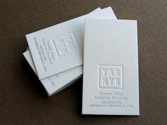 #letterpress #businesscard #print