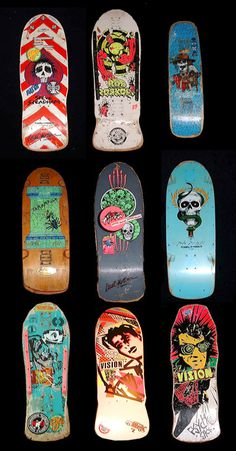 Retro Skateboards: Vision Street and Powell Peralta #retroskate #powellperalta #visionstreet