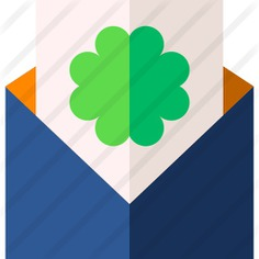 See more icon inspiration related to mail, clover, communications, contact, message, email, envelope, letter and business on Flaticon.