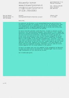 Dieuwertje Komen : Rob van Hoesel #print #identity #stationery