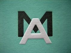 FFFFOUND! #green #modern #letters #typography