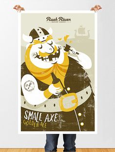 Rush River Small Axe Poster #beer #poster