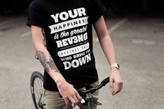 Looks like good Shirts by Revenge Clothing #quotes #happiness #revenge #swords #typography
