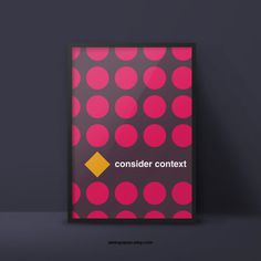 #consider #context #poster #minimalism #geometric #graphicdesign www.apapez.com