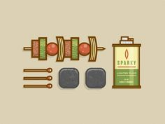 Grill Gear #simple #design #icons