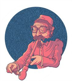 Opium - guapo #circle #smoke #illustration #weed #pipe #opium #bong