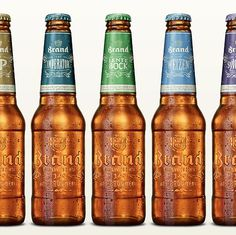 Brand Bier Bottles #packaging #beer #label #bottle