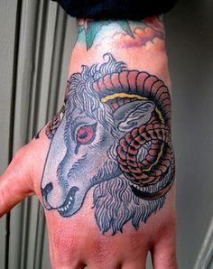 ram hand #tattoo