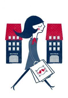 Parisian greeting cards : Cosas mínimas #shopping #paris #illustration