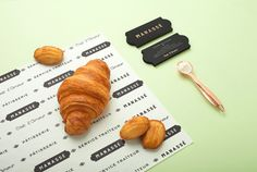 The new luxurious french patisserie & boulangerie named Manassé was designed by minimal branding & corporate identity specialists from Mexi