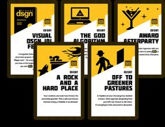 Event cards that portray interesting industry-relevant anecdotes #card #designs