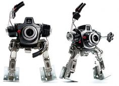 Recycled Tech Repurposed as Art & Gear — Life Scoop #camera #recyling #robot