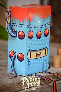 PAPER TOYS SERIE I on Behance #vector #robot #illustration #paper #toy