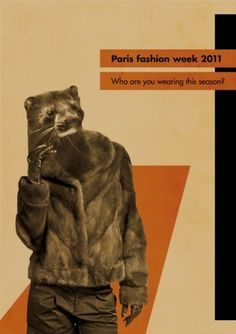 Sofia Ling – Grafisk Design #design #graphic #rights #fur #constructivism #poster #fashion #animal