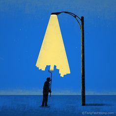 Light Painter #illustration #tangyauhoong