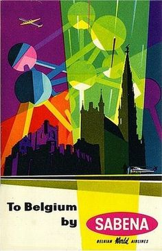 FFFFOUND! | to belgium by sabena.jpg 450×700 pixels #promotional #worlds #travel #fair #belgium #promo #poster #sabena