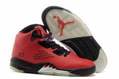 Nike Retro Jordan V Basketball Shoes Fire RedBlack #fashion