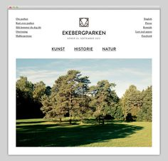 Ekebergparken #website #layout #design #web