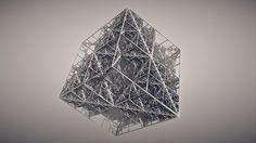 Rhombic #3d #fractal #cg #rendering