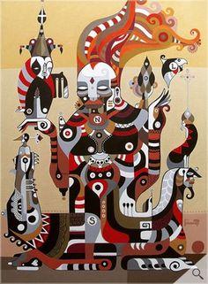 Threyda | Art & Goods | No Meio do Caminho #shaman #maps #psychadelic