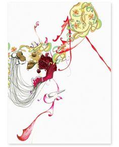 Hee K. Chun #line #pen #art #collage #drawing