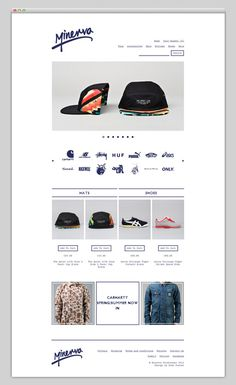 Minerva Streetwear (nice typography) #design #website #store #layout #web