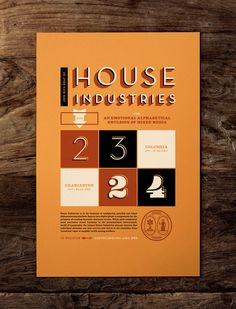 HOUSE INDUSTRIES — J FLETCHER #print #vintage #poster