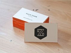 Dribbble - Business Cards by Zach Fuhr #edge #lettering #print #screen #painting #custom #logo