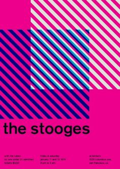 the stooges at bimbo's, 1974 - swissted #graphic design #swiss #posters #punk