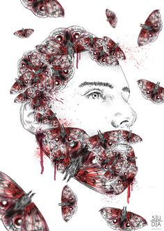 Male instinct part 2 by Mateusz Suda #sexy #suda #manly #beard #instinct #beardy #illustrations #butterfly #hot #male #gay #mateuszsuda