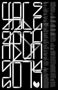 Yale School of Architecture Spring 2014 - Jessica Svendsen #type #white #black