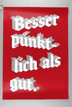 Besser pünktlich als gut. #niephaus #print #kai #poster #typography