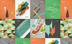 Brent Couchman Design & Illustration - Work #shoes #texture #fossil #vintage #poster #footwear