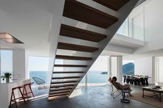 Interior stair, Sunflower House by Cadaval & Sola-Morales. #stair