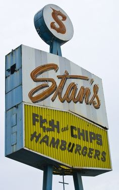 old restaurant sign