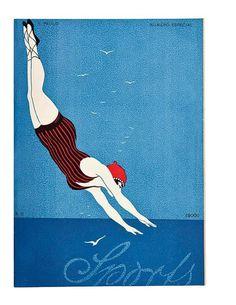 crxc3xa9dito: Divulgaxc3xa7xc3xa3o. legenda: Capa da revista 'Sports', com ilustraxc3xa7xc3xa3o de Thorwald Rasmus #brazil #design #graphic #vintage