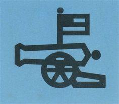 Cannon #flag #cannon #war #illustration #monostroke