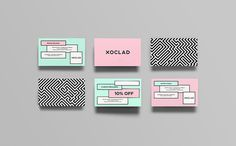 Xoclad Identity savvy #branding #identity #business cards
