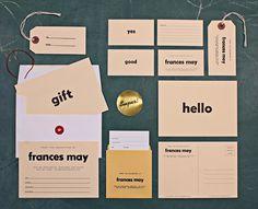 Frances May / Branding #print #identity
