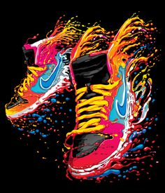 Nike t-shirt design 2012 on the Behance Network #nike #sneakers