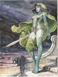 Gamora from Guardians of the Galaxy by Milo Manara More Milo Manara.