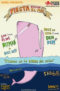 Poster By Desde el Mar Party #1