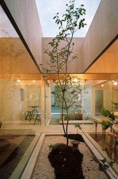 Table Hat / Hiroyuki Shinozaki Architects #ceilings #courtyards #interiors #wood #architecture